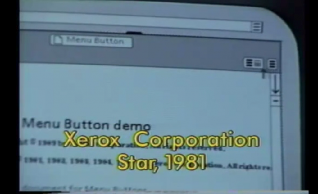 xerox hamburger menu