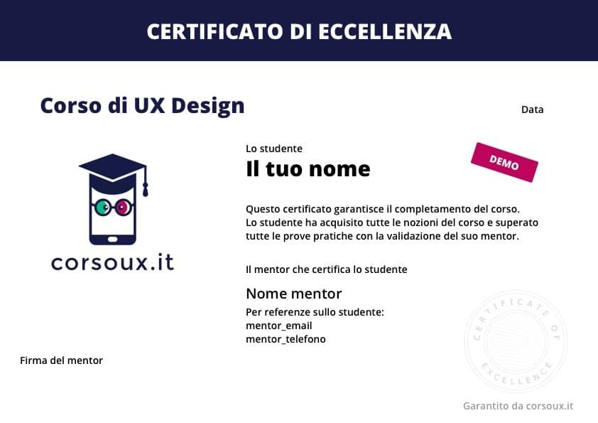 Certificazione UX Designer