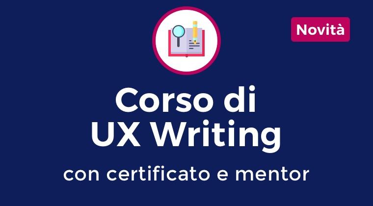 Il primo Corso di UX Design 100% online 2