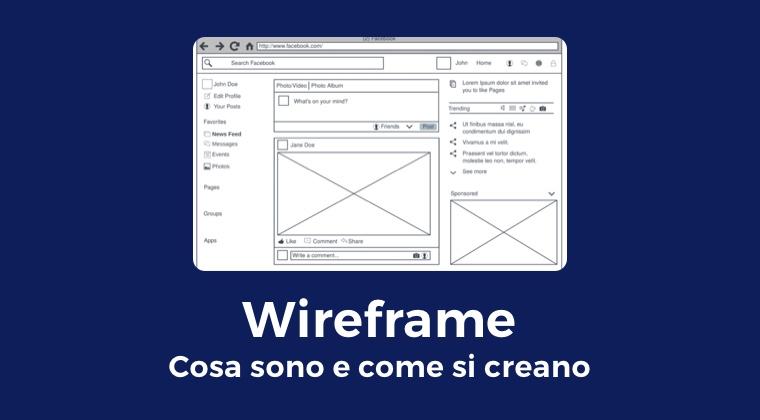 Wireframe: cosa sono e come si creano 1